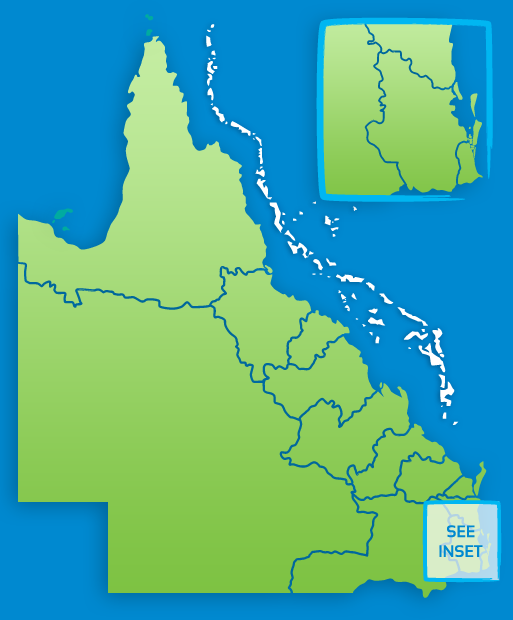 Map Australia Queensland.Queensland Maps Queensland Australia
