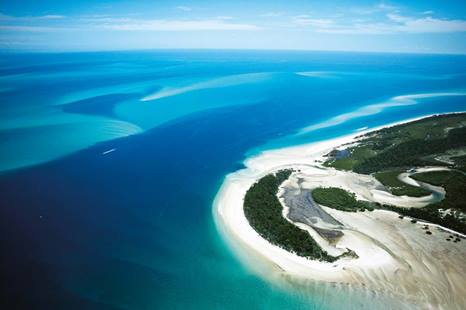 Birds eye view of the Great Sandy Strait on the Fraser Coast
