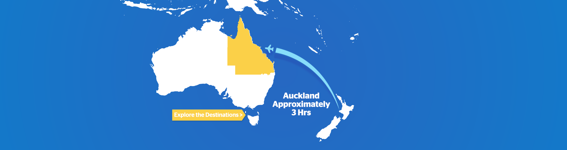 NZ to Australia Flight times map