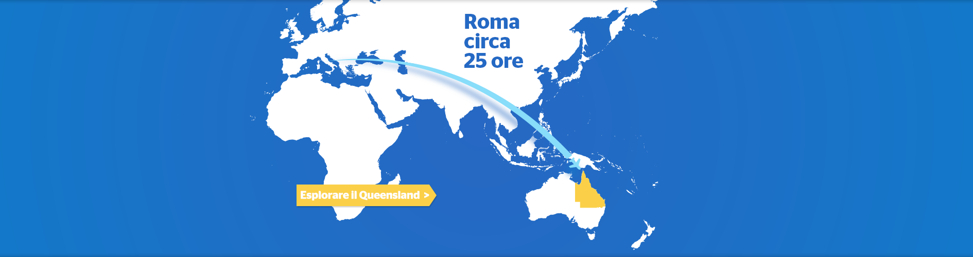 Rome to Australia Flight Map
