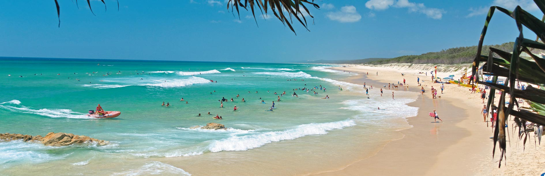 North Stradbroke Island, accessible from Cleveland
